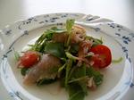 ラディッシュの葉とトマトのサラダ.JPG